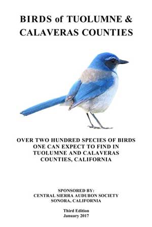 Birds of Tuolumne and Calaveras Counties PDF booklet